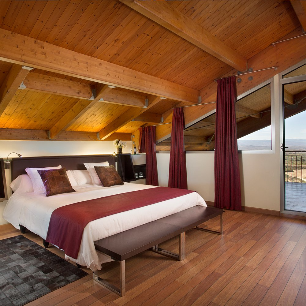 Habitación de hotel en Laguardia
