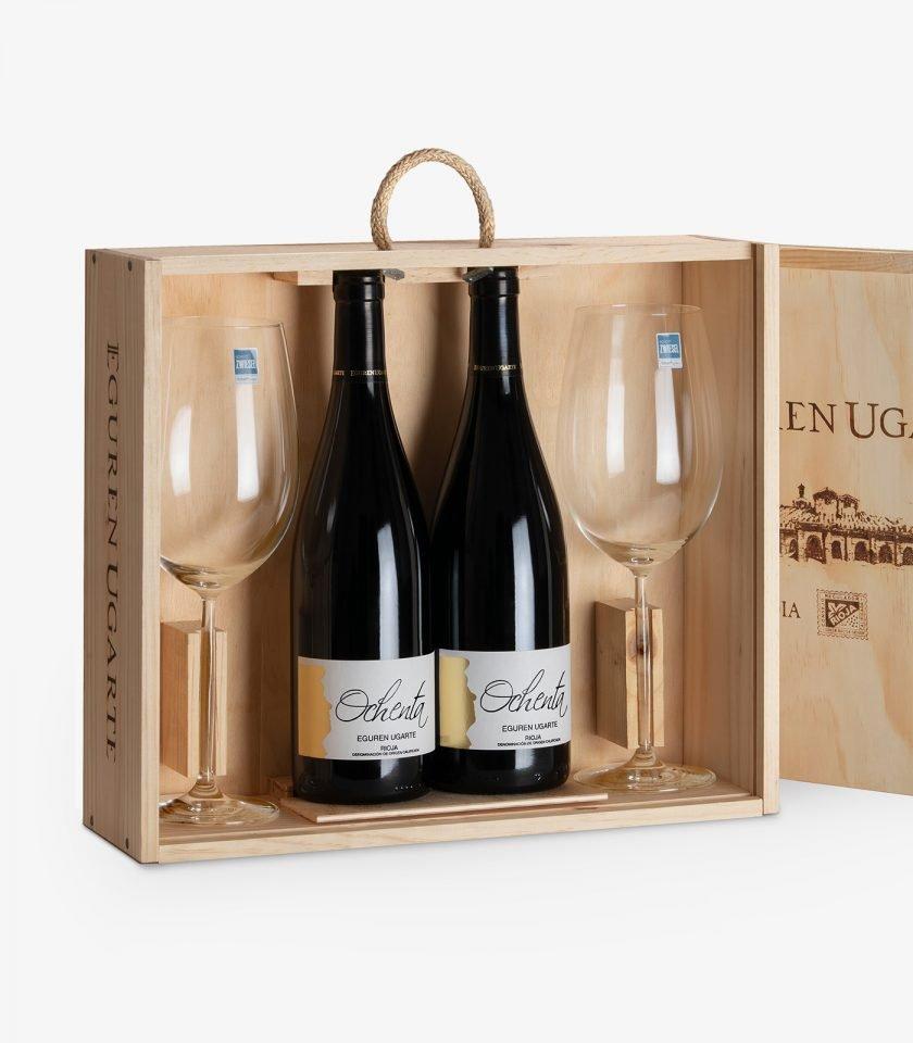 Comprar online estuche y copas de vino Rioja