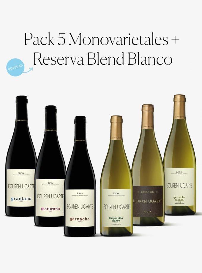 Pack especial monovarietales rioja y blanco blend reserva